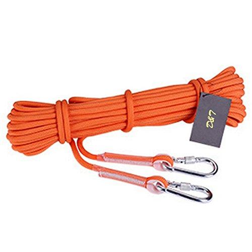 Dometool ausiliario 18kn arrampicata corda di salvataggio di emergenza corde professionale alpinismo roccia corda diametro: 12mm, orange