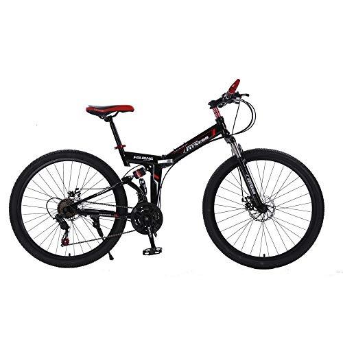 41tuewCXsiL. SS500  - DASLING Men'S Folding Bike Double Shock Absorber Mountain Bike 26 Inches