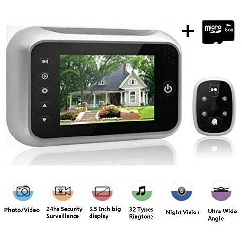 DoorCAM Digitaler Türspion mit Weitwinkel, 8,9 cm (3,5 Zoll) LCD-Bildschirm, extra groß für Türen, Video- und Fotoaufnahmen, einfach zu bedienende Sicherheit -
