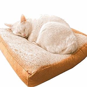 LQZ(TM) Coussin de Pain Cushion Matelas Pillow Creative Toast Pain Soft Warm Pet Cute Beds Pillow Mattress Cat pour Chat Chien Animaux 40 x 40 x 6.5cm