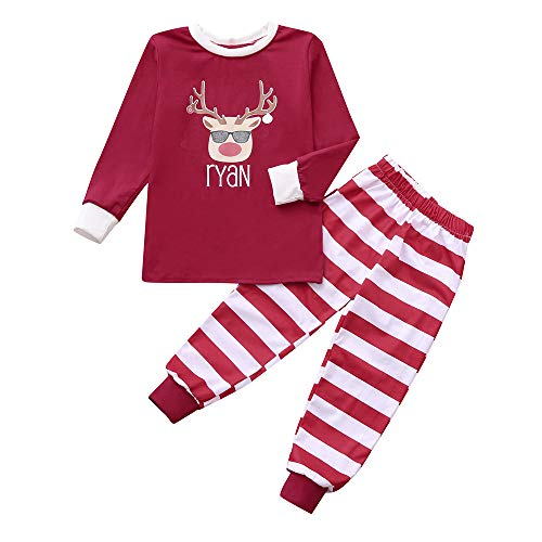 Giulogre Costume De Noël Homme Femme Parent Child Casual Manches Longues  Santa Tops Blouse Pants Family 3dd6480bba9