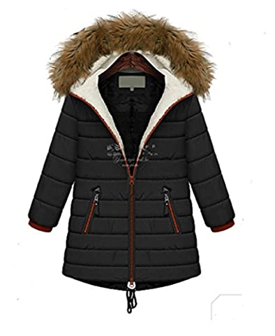 Ksweet Winterjacke Damen mit Fellkapuze Texturierte Steppjacke Warm Jacken Übergang Parka Damenjacke Winter Jackem