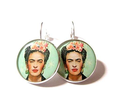 Frida Kahlo Ohrringe, Frida Kahlo Schmuck, baumeln Ohrringe, Ohrringe Stern, mexikanischen Schmuck, Frida Kahlo giftv