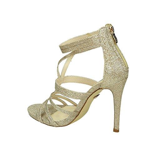 Damen Riemchen Abend Sandaletten High Heels Pumps Slingbacks Lack Peep Toes Party Schuhe Bequem 38 Gold 326