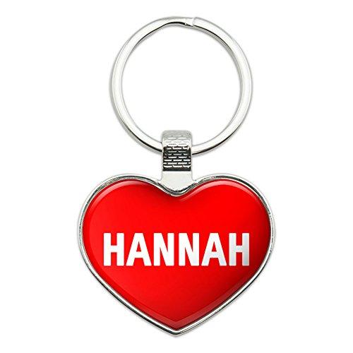 Metall Schlüsselanhänger Ring I Love Herz Namen e-i Hannah