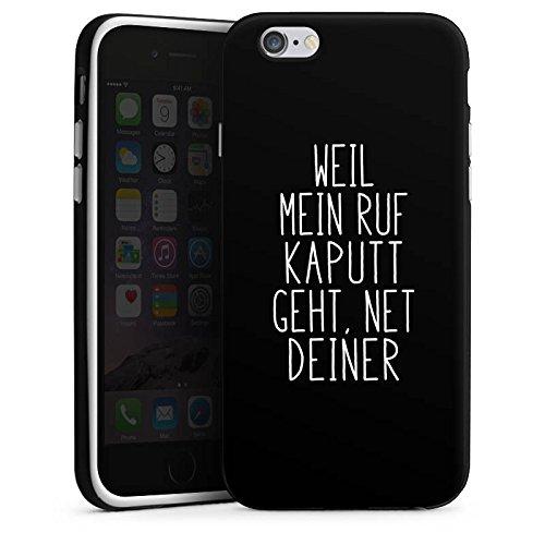 Apple iPhone 7 Plus Hülle Case Handyhülle Weil mein Ruf kaputt geht Pietro Lombardi Spruch Silikon Case schwarz / weiß