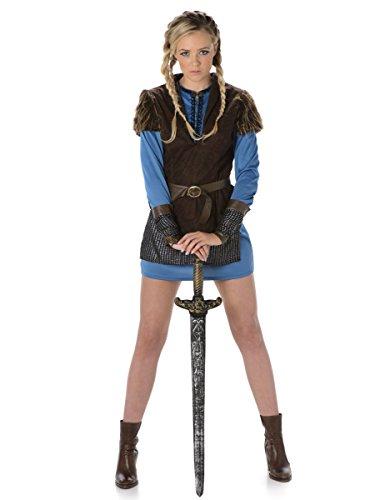 Kettenhemd Kostüm (Karnival Costumes  - Wikinger Kostüm für Damen Taille)