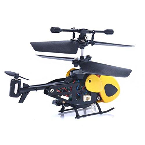 Spielzeug RC 2ch RC Hubschrauber Radio Fernbedienung Flugzeug Micro 2 Kanal Von Xinan (Hubschrauber, Gelb)