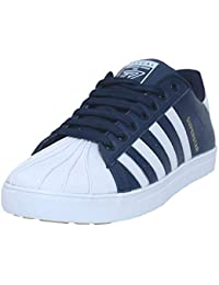 Black Tiger Shoes for Men's Superstar Synthetic Leather Casual Shoes and Sneakers 8074-White-Blue