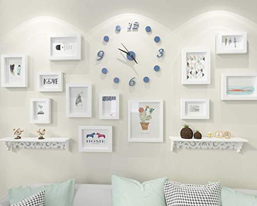 XHCP Fotorahmen Kombination Umweltfarben Spray Polymerschaum Einfache Fotowand Fotorahmen Wand Geeignet für Wohnzimmer Schlafzimmer Restaurant