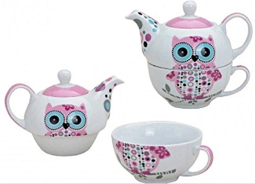 tiv in Rosa für eine Person | Teekanne & Teetasse | Pinkes Porzellan-Teeservice in Geschenkbox | schön designte Henkel-Tasse & Henkel-Kanne für Teetrinker | Tassen-Set Tea for one ()
