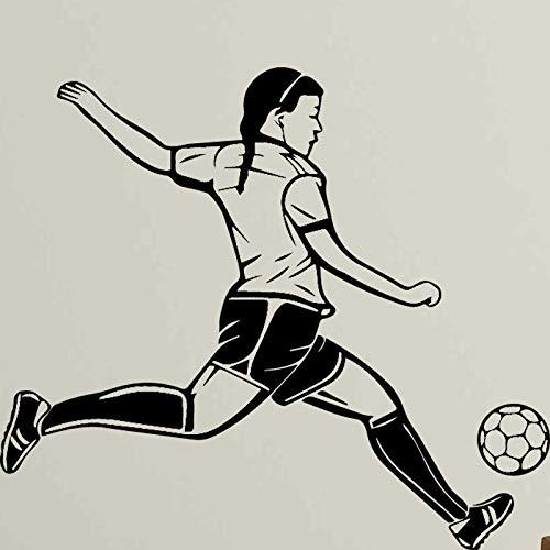 zqyjhkou Spielt Fußball Mann Wandaufkleber Entfernbare Wandaufkleber DIY Tapete Für Wohnzimmer Schlafzimmer Stikers Für Wanddekoration Wandbilder XL 58 cm X 67 cm