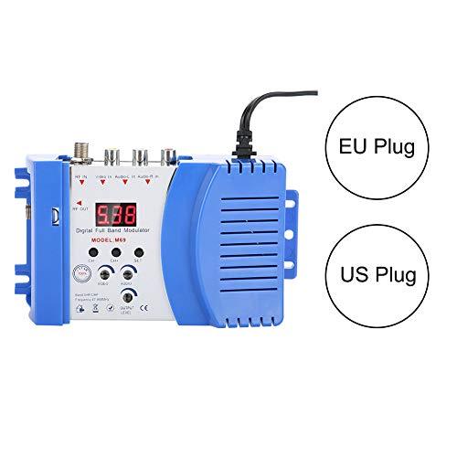 Jinxuny Modulatore Digitale, Modulatore RF Digitale AV-RF Convertitore AV-TV VHF UHF 110-240V (Style : EU)