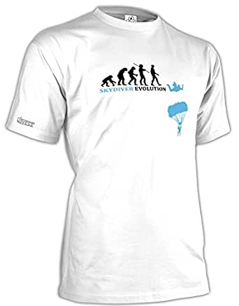 SKYDIVER - FALLSCHIRMSPRINGER EVOLUTION - HERREN - T-SHIRT in Weiss by Jayess Gr. XXXL
