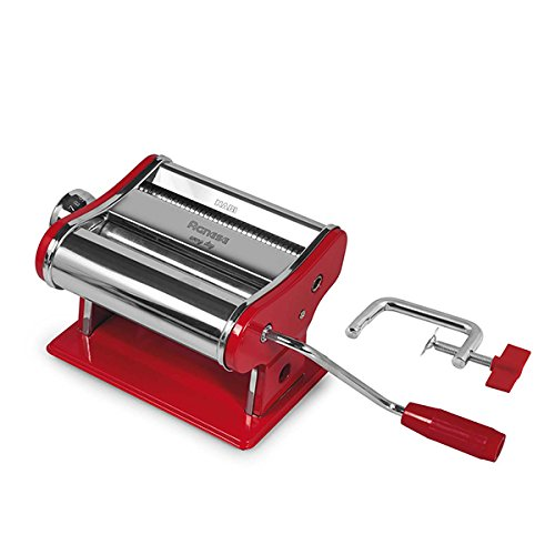 Habi 8409503 Macchina Pasta, 150 mm, Rosso, Acciaio Inossidabile, Rosso/Acciaio