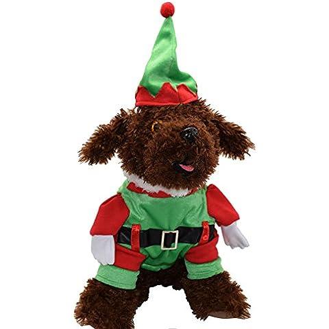 Forepin®Vestiti Caldo Felpa Gilet Giacca Cappuccio Cappotto per dell'animale domestico Cane Abbigliamento di Natale (XXL)