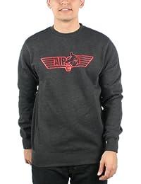 Crooks & Castles - - Hommes Escadre aérienne Crew Sweatshirt Knit en noir