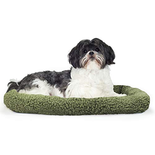 Furhaven Pet NAP Hundebett mit Berber-Polster, Salbei, 45,72 x 60,96 cm -