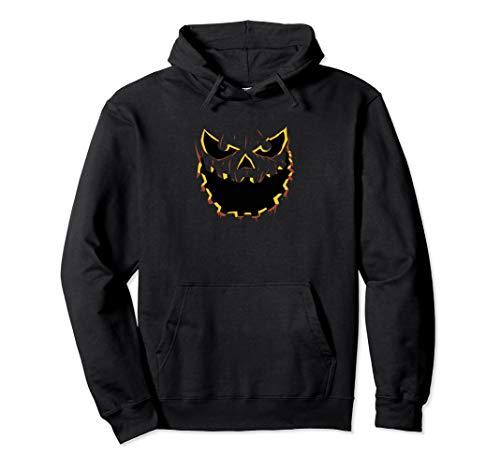 Böse Kürbis Jack O Laterne Pullover Hoodie (Jack Kürbis König Kostüm)