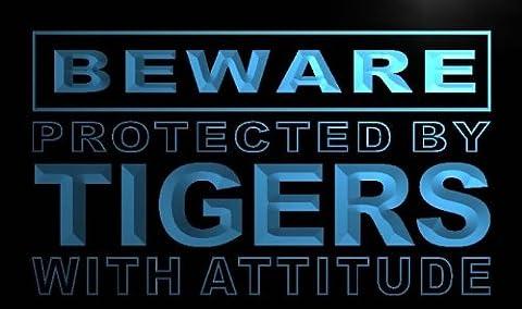 ADV PRO m530-b Beware Tigers Neon Light Sign Barlicht Neonlicht Lichtwerbung