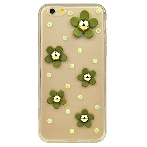 Phone case & Hülle Für IPhone 6 Plus / 6S Plus, Modische Ultradünn Gänseblümchen Muster Acryl TPU Schutzhülle ( Color : Yellow ) Green