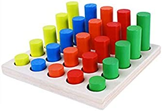 Shopaholic Geometric Shape Sorter Puzzle Board Building Block Toy Wooden Teaching Toy for Early Educational Training