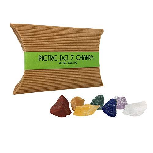 Pietre dei 7 chakra – pietre e cristalli naturali per cristalloterapia - pietre curative ed energetiche - pietre grezze