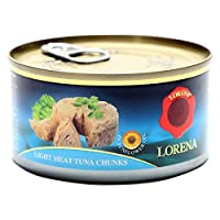 ‏‪Lorena Light Meat Tuna Chunk in SF Oil, 185g‬‏