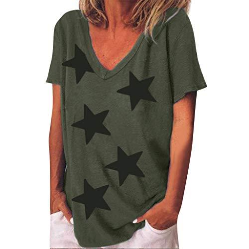 ♥ AG&T ♥ Haut à Manches décontractée pour Femmes Shirt Femme Manche Courte T-Shirt Casual Blouse Eté Tops Tee Shirt