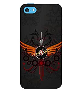 PRINTSWAG SWORD Designer Back Cover Case for APPLE IPHONE5C
