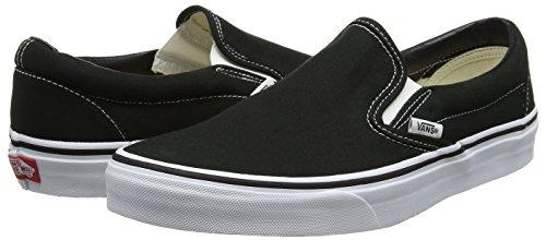 Vans Unisex Adults' Classic Slip On, Black (Black / White), 8.5 UK
