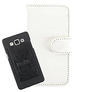 DooDa PU Leather Wallet Flip Case Cover With Card & ID Slots For Lava Iris 444 - Back Cover Not Included Peel And Paste