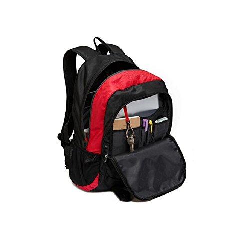 LF&F Backpack Hochwertiges Wasserdichtes Nylon Outdoor-Sport rucksack Laptop tasche Bergsteigen Reisen Camping Party picknick Rucksack Unisex-SchüLer tasche Tornister B