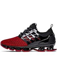Hombres Mujeres Zapatos para Correr Al Aire Libre Jogging Transpirable Deporte con Cordones Zapatillas de Deporte