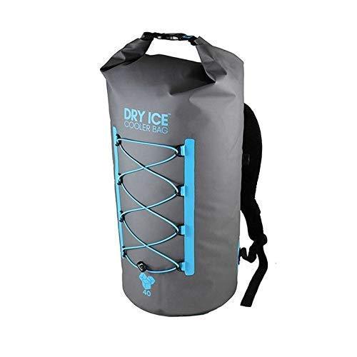 Dry Ice Cooler Rucksack Kühltasche 40 Liter Grau Wasserdichte Tasche (Kordelzug Cooler Bag)
