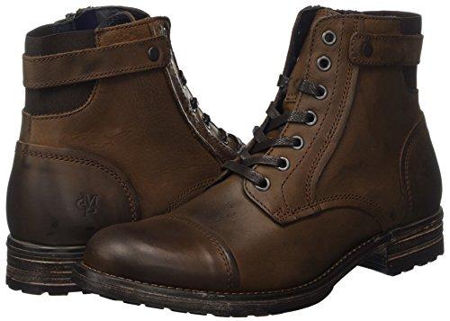 Marc O'Polo Herren Bootie Combat Boots, Braun (Mocca), 44 EU - 5