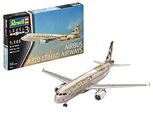 Revell- Airbus A320 ETIHAD Airways, Kit de Modelo, Escala 1:44 (3968) (03968),, 26,1 cm (
