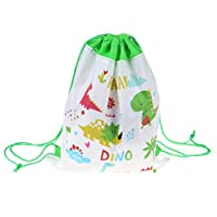 1Pc Dinosaur Drawstring Bag Non-woven Bag Backpack Kids Travel School Decor Drawstring Gift Bags