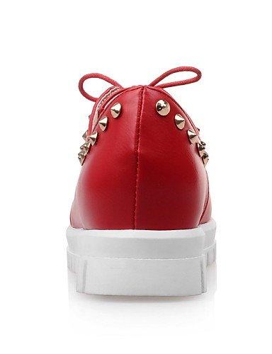 ZQ hug Scarpe Donna-Sneakers alla moda-Tempo libero / Ufficio e lavoro-Zeppe / Comoda / Punta arrotondata-Zeppa-Finta pelle-Nero / Rosso / , red-us8 / eu39 / uk6 / cn39 , red-us8 / eu39 / uk6 / cn39 white-us5.5 / eu36 / uk3.5 / cn35
