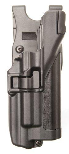 Blackhawk Level 3 Serpa Xiphos Duty Holster, Plain, Black, Right Hand - For Glock 21 & 44H513PL-R