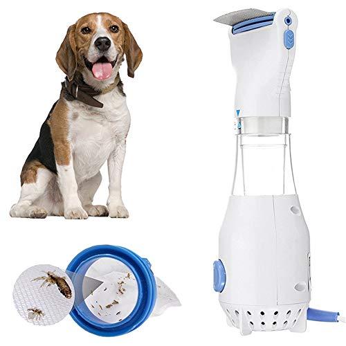 Tigerchen Elektrischer Läusekamm, 110V elektronische Flohkamm für Hunde/Katzen + 3 Filter– wirksames Läusemittel zur Vorbeugung, Behandlung und Entfernung von Läuseeiern und Kopf-Läusen(EU Plug)