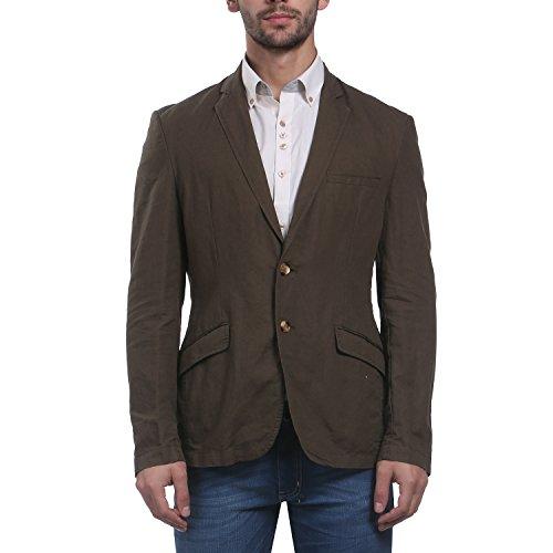 Park Avenue Men Dark Brown Cotton Blend Jackets