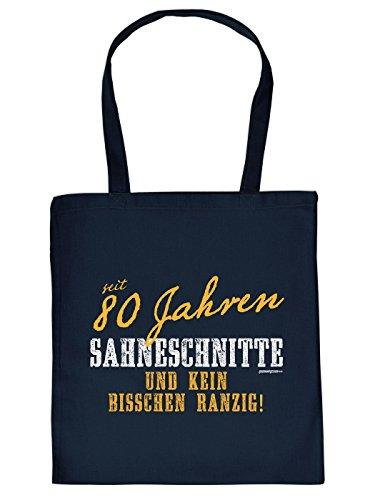 kaufstasche zum 80. Geburtstag: SAHNESCHNITTE seit 80 Jahren, tolle Geschenk Idee von Goodman Design ()