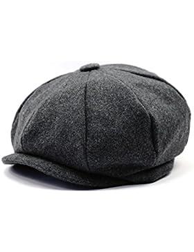 a4e4f63c7ce34 Hombres de estilo Newsboy 8 piezas de casquillo plano Herringbone lana Hat