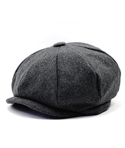 Hombres de estilo Newsboy 8 piezas de casquillo plano Herringbone lana Hat ( 6) 722c9689bef