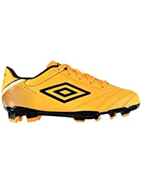 Umbro Classico Botas Fútbol Suela Firme Junior Naranja Fútbol Zapatos Tacos 31bed20410764