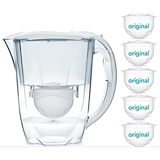 Aqua Optima 10 Month Pack - Oria Water filter jug with 5 x 60 day water filter cartridges