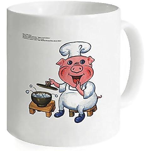 okoukiu Chef Pig Mug–Tazza da tè personalizzato regalo per compleanno, Natale e nuovo year-3.7
