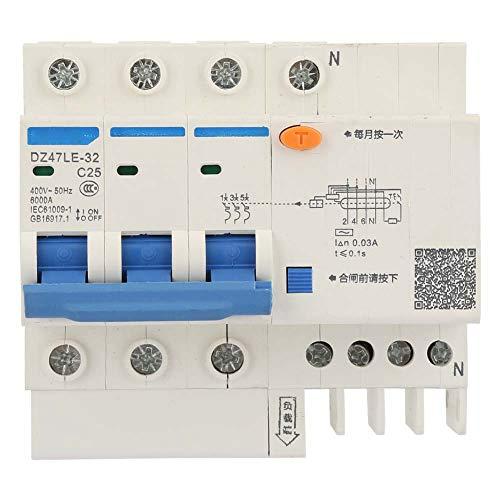 Leistungsschalter, DZ47LE-32 3P + N 400V Fehlerstromschutzschalter(C25 25A) Ideal Circuit Tracer