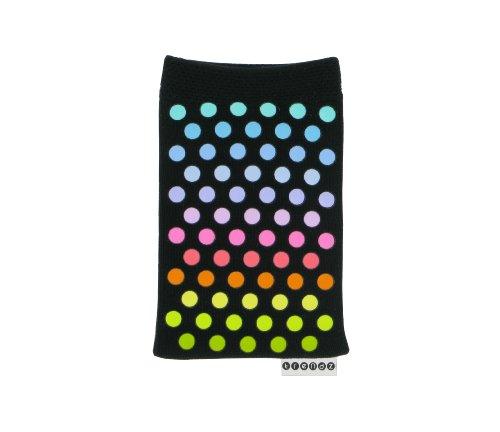 Trendz Universal Smartphone Handysocke - schwarz mit farbigen punkten